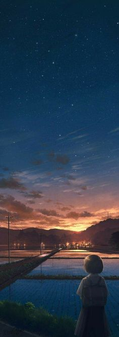 37 Ideas for landscaping pictures sky Animes Wallpapers, Cute Wallpapers, Anime Backgrounds Wallpapers, Phone Wallpapers, Japon Illustration, Anime Scenery Wallpaper, Sunset Wallpaper, Buch Design, Art Anime
