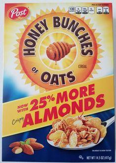 Honey Bunches of Oats with Almonds Breakfast Cereal - - Post Age Group: Adult. Honey Bunches of Oats with Almonds Breakfast Cereal - - Post Oat Cereal, Breakfast Cereal, Chocolate Cereal, Cereal Boxes, Breakfast Menu, Breakfast Recipes, Heart Healthy Breakfast, Apple Crisp Easy, Food Clips