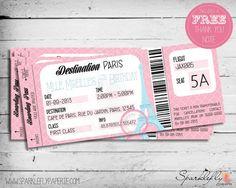 Boarding Pass Invitation Template Free Awesome Boarding Pass Ticket to Paris Birthday Invitation by Paris Invitations, Gala Invitation, Invitation Maker, Birthday Invitations, Business Invitation, Digital Invitations, Thema Paris, Menta Chocolate, Bridal Shower Invitation Wording