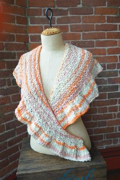 (6) Name: 'Knitting : Pixie Ruffle Shawl