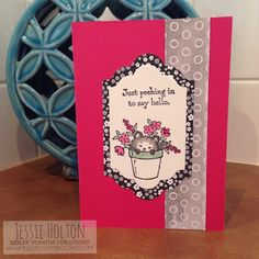 Jessie Holton / MollyPossum Creations / Stampin' Up! Australia Demonstrator: Pretty Kitty - Layout & Basic Watercolouring Tutorial