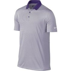 Nike Golf Victory Mini Stripe Polo - Court Purple/White