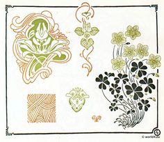 Vintage Inspiration: Jugendstil Ornamente, 31-32