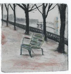 Tuileries. Paris. Andi Ipaktchi illustration. illustratrice.com