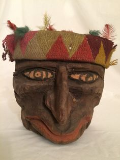 Vintage 1950s Tribal Mask Masks Pre-Columbian by oldfangledcool