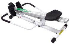No matter your age, strength or condition, the impact-free act of rowing is ideal for lifelong fitness. This elevated rower by Stamina makes it easy to work rowing into your daily routine. In addition to providing and excellent cardio workout, rowing works all major muscle groups including legs, arms, back, abdominal and buttocks. This rower features a sturdy steel frame, precision-extruded aluminum beam, deluxe ball bearing roller system...