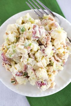The BEST EVER Potato Salad recipe, with a special secret ingredient in the dressing! It will convert any potato salad hater to a potato salad lover! via BEST EVER Potato Salad recipe, with a special secret ingredient in the dressing! Easy Salad Recipes, Soup Recipes, Cooking Recipes, Cooking Games, Yummy Recipes, Best Ever Potato Salad, Best Potato Salad Recipe, No Mustard Potato Salad Recipe, Russet Potato Salad Recipe