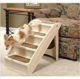 """Solvit Plus Pet Stairs PupSTEP, Cat Dog Ramp Steps,Ideal for small or medium-size dogs,Supports over 120 pounds,24"""" x 16"""" x 20"""