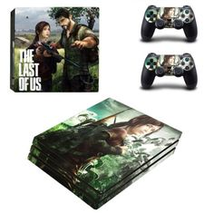 The-last-of-us-decal-design-skin-Sticker-for-PS4-Pro-Console-and-2-Controllers