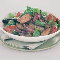 Mushroom, beef and rocket salad