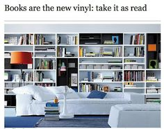books are the new vinyl - I SO  want a home library!