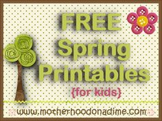 10 FREE Spring Printable Packs for Kids {300+ Pages!} @ Motherhood on a Dime