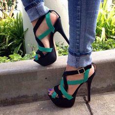 Stunning cutout heels