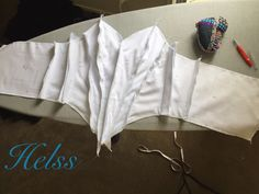 Ballet. Traditional Tutu bodice construction, back view. Awaiting final fitting. Made by Helen Shawsmith.