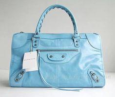 knockoff balenciaga light blue le dix motorcycle handbag large size