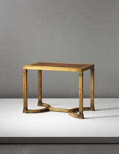 PHILLIPS : UK050414, Axel Einar Hjorth, Table, from the 'Caesar' series, commissioned by Kurt Levin, for the boardroom, Stocking Manufacturers, Malmö