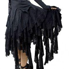 jupe gothique punk rave decadence - Boutique Gothique Romantique Gothyka