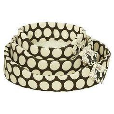 Polka Dot dog bed $35