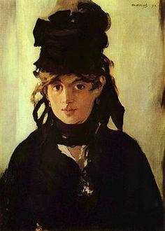 Édouard Manet, Berthe Morisot with a Bouquet of Violets, 1872  Berthe Morisot (January 14, 1841 – March 2, 1895) was a painter and a member of the circle of painters in Paris who became known as the Impressionists.