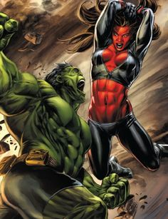 HULK VS RED SHE HULK !!!!
