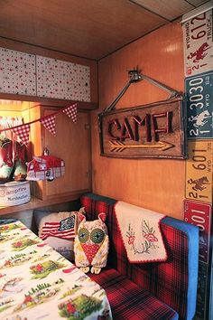 the best thing about this camper is the wyoming license plate decor......got me thinking.....