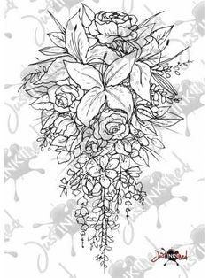 Digital Stamp Wedding Bouquet
