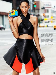 Chanel Iman graces the pages of Elle