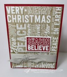 Stamp & Scrap with Frenchie: Merry Medley on wood Faux Illusion Video