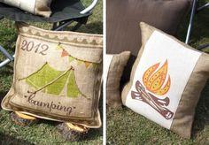 outdoor backyard camping party ideas- cute pillows