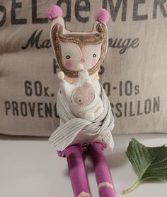 Jasmin Stuffed Fabric Doll by WhiteFoxInBlackBox on Etsy $85