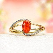 Mexican Fire Opal Jewelry I would love this with ruby, my birthstone :)