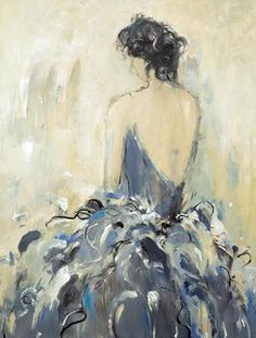"""Fond Reflections"" by Lisa Ridgers.  38"" x 50"" Acrylic on Canvas"