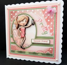SELFIE DIVA Card Topper Decoupage on Craftsuprint designed by Janet Briggs - made by Bernie Mclaughlin