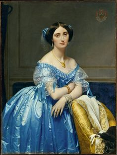 Jean-Auguste-Dominique Ingres (French, 1780–1867) Joséphine-Éléonore-Marie-Pauline de Galard de Brassac de Béarn (1825–1860), Princesse de Broglie, 1851-1853. Oil on canvas, 47 3/4 x 35 3/4 in (121.3 x 90.8 cm). Metropolitan Museum of Art, New York. On view at The Met Fifth Avenue in Gallery 957.
