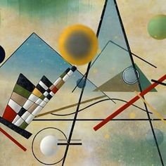 The Russian painter and graphic artist Wassily Kandinsky was one of the great masters of modern art, as well as the outstanding representative of pure abstract painting (using only colors and forms) that dominated the first half of the twentieth century.  In 1922 Kandinsky became a professor at the Bauhaus (a school of art, architecture, and design) in Weimar, Germany. His art from about 1920 to 1924 has been called his architectural period because the shapes he used were more precise than…