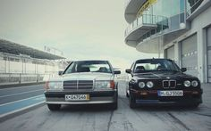 BMW E30 M3 and Mercedes Benz 190E 23 16 front view