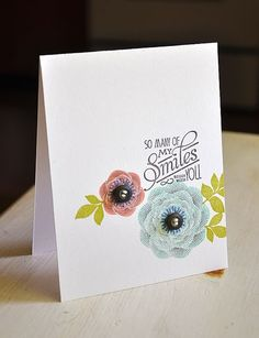 Natural Beauties Card by Maile Belles for Papertrey Ink (June 2012)