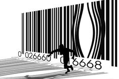 Not sure of the meaning behind this, anti-consumerism maybe? Barcode Art, Barcode Design, Ad Design, Graphic Design, Anti Consumerism, Art Puns, We Will Rock You, Political Art, Illustration