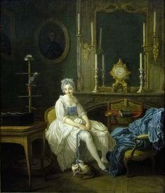 1769. Le Boudoir. Etienne Jaurat. Walther Art Gallery. Liverpool.