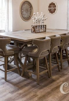 Counter Height X Style Wood Farmhouse Dining Table Counter Height X Style Wood Farmhouse Dining Table Farmhouse Dining Room Table, Dining Room Table Decor, Kitchen Decor, Kitchen Ideas, Counter Height Kitchen Table, Bar Height Dining Table, Counter Counter, Dining Furniture Sets, Elegant Dining