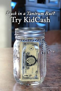 """Stuck in a tantrum rut? Give KidCash a Try! It rewards and motivates kids with """"cash"""" for sweets, activities, and more! 