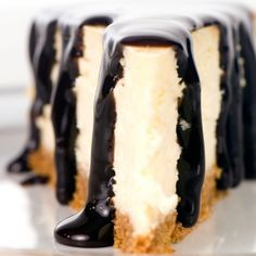 A Rich and creamy Cheesecake recipe that is served with a yummy warm chocolate sauce.. Classic Cheesecake with Chocolate Sauce Recipe from Grandmothers Kitchen.