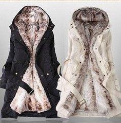 Manteau femme fourrure a l'interieur