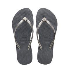 Havaianas Slim Crystal Poem Sandal Steel Grey Bright Silver In Slim Crystal Poem Sandal Steel Grey Bright Silver Modesens Flip Flop Shoes Navy Blue Shoes Blue Flip Flops
