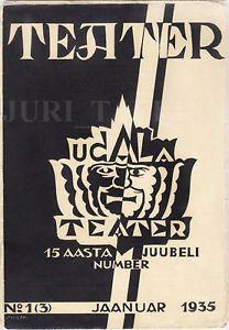 AVANT-GARDE Cover by Jaan SIIRAK Magazine TEATER 15 Years Jubilee Issue N.1 1935 | eBay