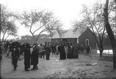The bodies where taken to the morgue were a crowd had gathered.