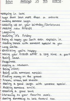 "The best feelings (*having something to look forward TO. One ""o"" not two. Drives me crazy when it's wrong)"