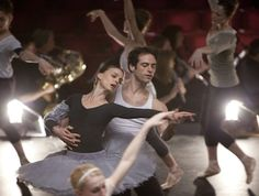 "Natalie Portman & Benjamin Millepied ~ Millepied was dating another ballerina during the filming of ""Black Swan"" until Natalie Portman swept him off his feet. Two years and an Academy Award later, Portman gave birth to their son, Aleph"