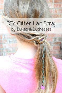 DIY glitter spray for hair