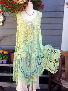 Luv Lucy Crochet dress Lucy's Summer meadow boho gypsy woodland fairy  on Etsy, $325.00